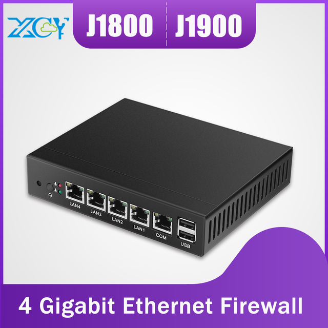 US $98 0 15% OFF|XCY Industrial Computer 4 LAN Gigabit Ethernet Intel NIC  Celeron J1900 J1800 60G SSD Pfsense Router OS Firewall Mini PC Windows -in