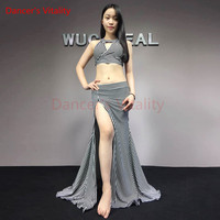 Dancer S Vitality New Arrival Bellydance Costumes Chest Thread Empty Back Cross Harness Belly Dance Dress