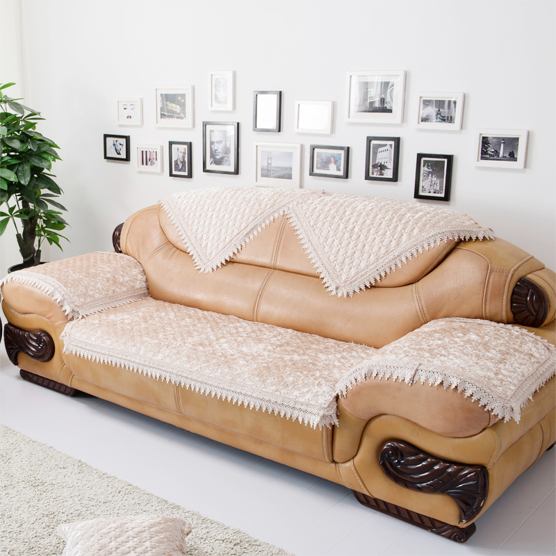 High Class Pleuche Plush Sectional Sofa Towel Winter Fashion Thickening Leather  Sofa Cover Optional Size (1 Pieces/lot) In Sofa Cover From Home U0026 Garden On  ...