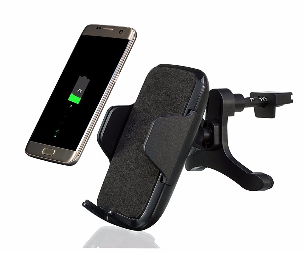 Qi Wireless Car Mount Charger Air Vent Holder Charging Cradle for Samsung S9 S8 plus S7 6 edge Note 8 6 5 for iphone 8 7 6s plus mobile phone car vent holder