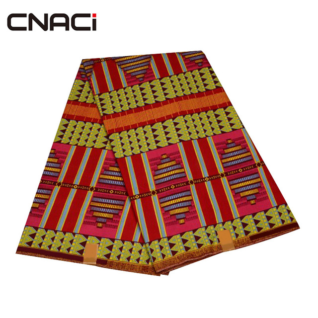 CNACI 2018 New African Fabric Ghana Kente 6 Yards Ghana Fabric African Fashion Kente Cloth Ghana Tissu Patchwork Free Shipping 2