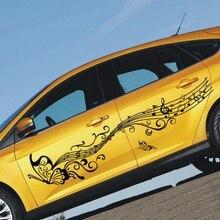 1 زوج 223 سنتيمتر الموسيقى ملصقات السيارات والشارات فراشة السيارات الجسم كله ملصق الأبواب الفينيل اكسسوارات السيارات التصميم