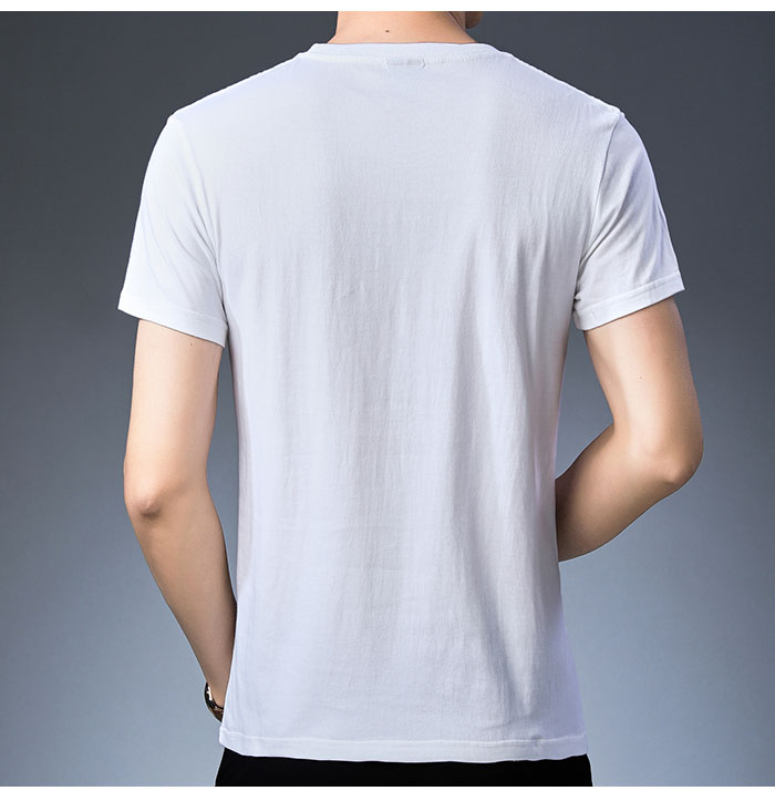 Baishanglinna Spring Summer Short Sleeve Tee Shirt Men Casual O-Neck T-Shirt Men Pure Cotton Top Homme Brand Clothing S - XXXXL 10
