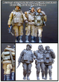 Scale Models 1/35 WW2 Russian chechen war The disabled group WWII Resin Model Free Shipping