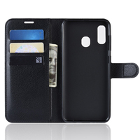 pu leather Mobile Phone Case Flip PU Leather All-round Dustproof Phone Case Card Storage With Bracket for Samsung A20e (1)