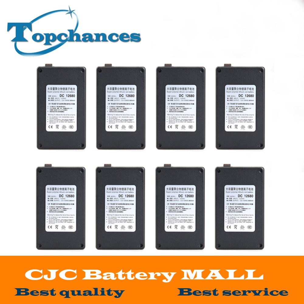 8PCS High Quality Newest DC12680 6800mAh 12V Super Rechargeable Li-ion <font><b>Battery</b></font> With Case For wireless transmitters <font><b>CCTV</b></font> camera