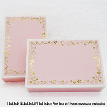 Mooncake-Packaging Gift Boxes Pink Cardpaper-Box Lace 20pcs for Present