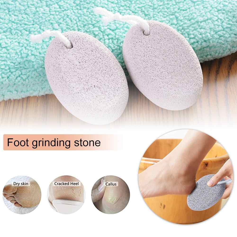 1PC Natural Pumice Stone Foot File Scruber Hard Skin Remover Pedicure Brush Bathroom Products Healthy Foot Care Tool Dropship