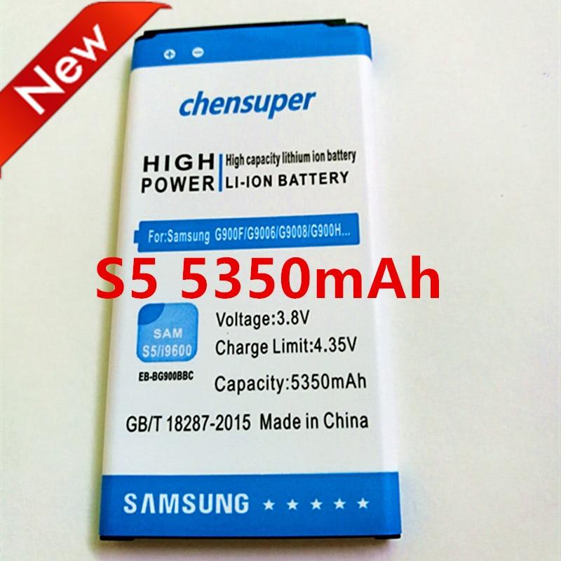 chensuper 5350mAh EB-BG900BBC <font><b>Battery</b></font> for Samsung galaxy S5 SV i9600 i9605 G900F G900T G9008 G9009D G9009W G9006W G9008V i9602