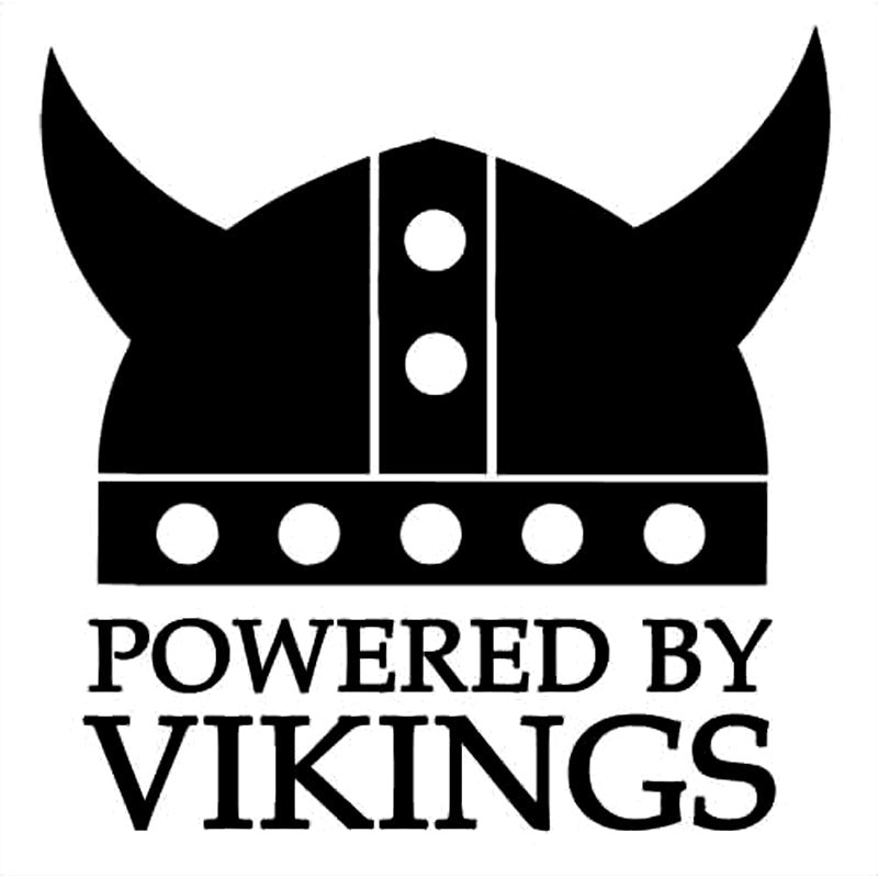 2x Powered by 4 mad vikings car stickers for Volvo S40 v40 T4 Turbo