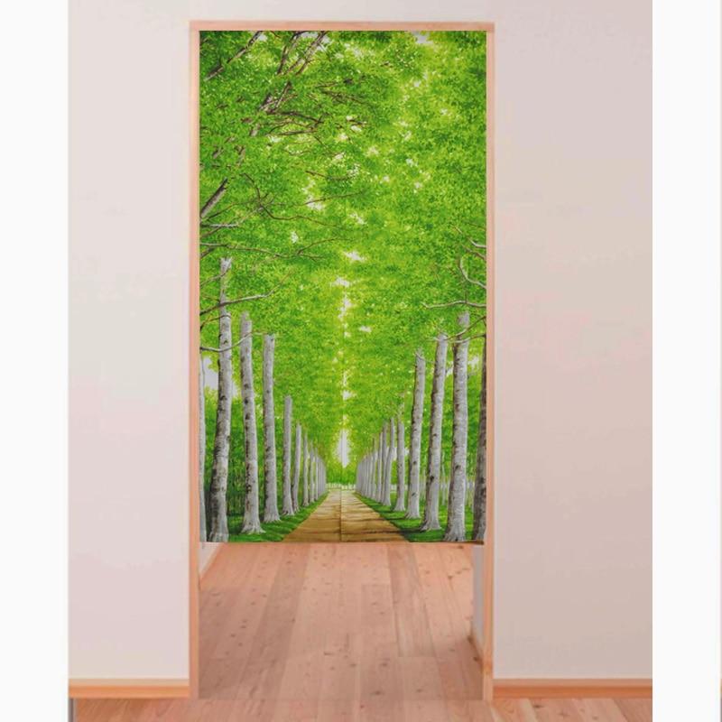 High Quality Morden Japanese Tricot Yarn Green Tree Print