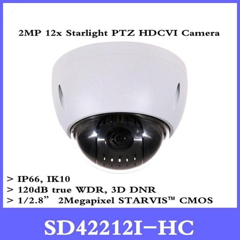 все цены на DH CCTV Security Camera 2Mp Mini HDCVI PTZ Dome Camera 1080P HDCVI 12X PTZ Camera without Logo SD42212I-HC Free shipping онлайн