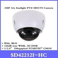 DH CCTV Security Camera 2Mp Mini HDCVI PTZ Dome Camera 1080P HDCVI 12X PTZ Camera without Logo SD42212I HC Free shipping