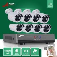 Plug Play ANRAN 8CH Hybrid HDMI HD AHD DVR 1800TVL 720P Waterproof Outdoor Array IR Night