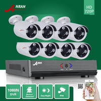 Plug Play ANRAN 8CH Hybrid HDMI HD AHD DVR 1800TVL 720P Waterproof Outdoor Array IR Night