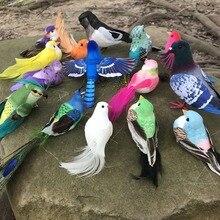 Много типов поддельных ремесленных птиц искусственные пенные Перья Мини птицы, украшения для стола для свадьбы, украшения для дня рождения детей, свадьбы