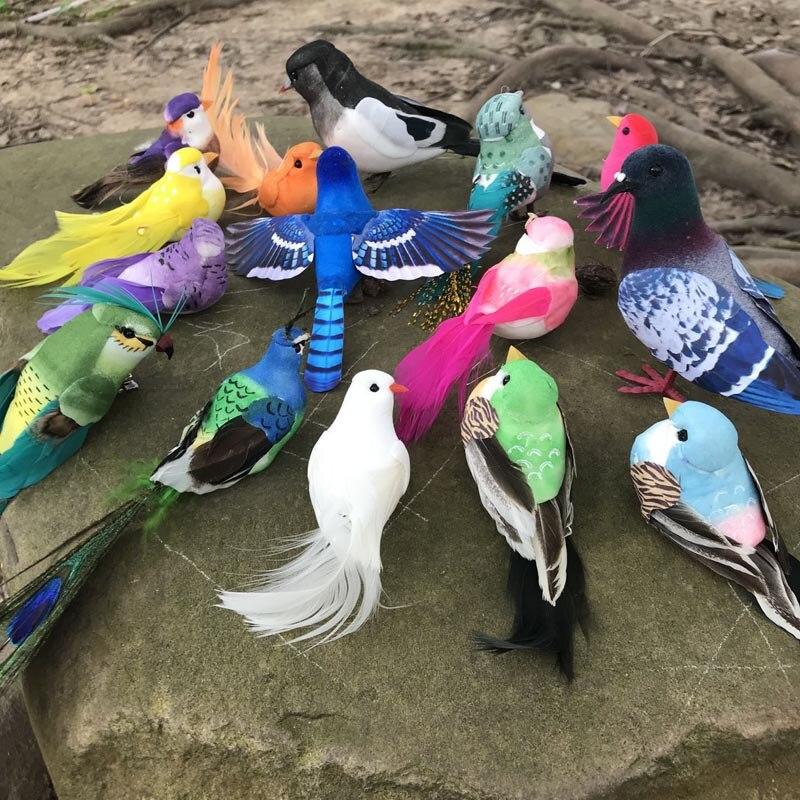 Beaucoup de Types faux oiseaux d'artisanat plumes artificielles en mousse Mini oiseau, décoration Table de Mariage, décorations de fête d'anniversaire enfants, Mariage