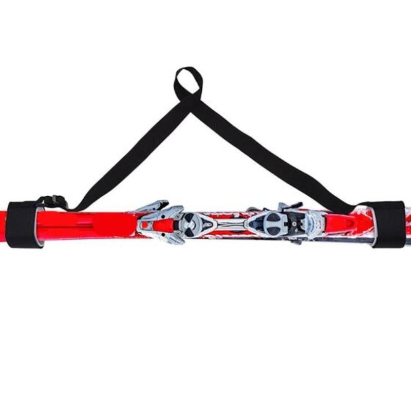 Adjustable Skiing Pole Shoulder Hand Carrier Lash Handle Straps Porter Hook Loop Protecting Black Ski Handle Strap Bags
