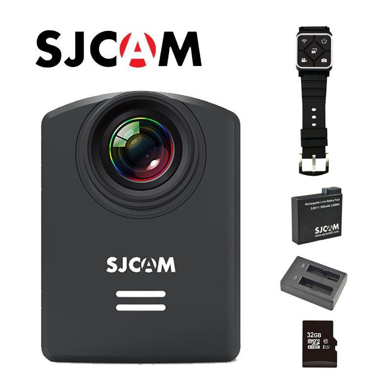 Original SJCAM M20 WiFi Gyro 30 M étanche Mini sport DV avec télécommande + carte 32 GB + supplémentaire 1 pièces batterie + chargeur de batterie