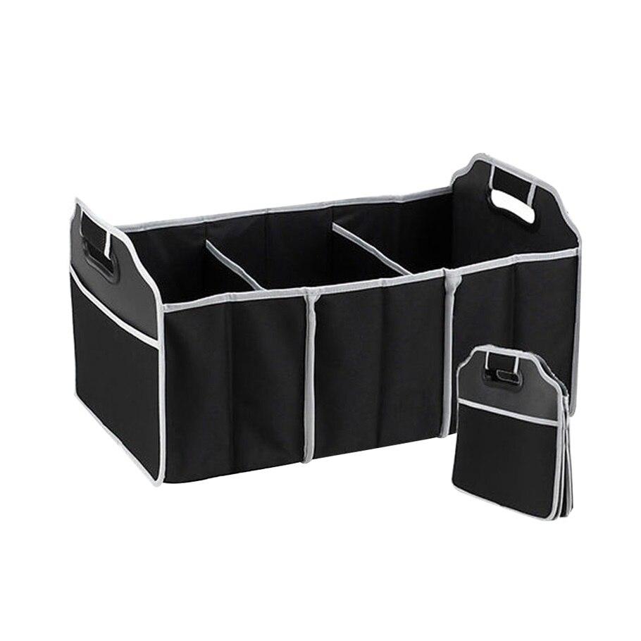Auto Organizer Boot Sachen Lebensmittel Lagerung Taschen koffer veranstalter Auto Verstauen Aufräumen Innen Zubehör Zusammenklappbaren ~