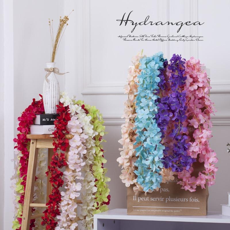 Rattan Şerit Wisteria S Düğün Için Yapay Çiçek Asma Odası Ev - Tatiller ve Partiler Için - Fotoğraf 1