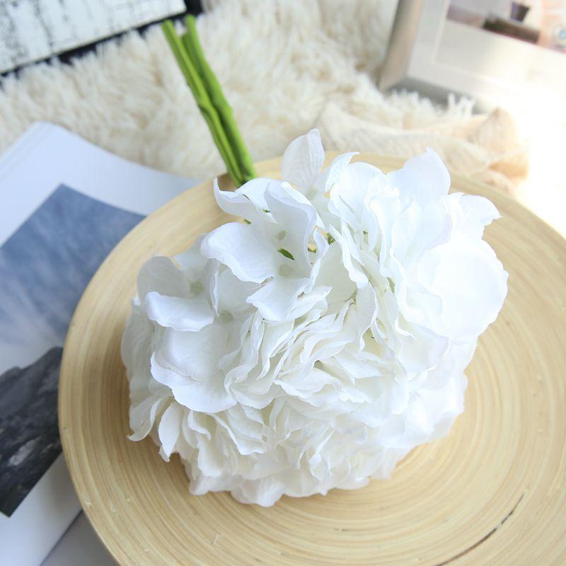 Artificial Hydrangea Silk Flower DIY Dekorativ Blom Bouquet Diy - Semester och fester - Foto 6