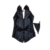 Zíper frontal e Traseira Laço Preto Faux Leather Desossado Lace Up Gothic Steampunk Corset Bustier top