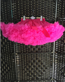 Colorful baby kids girls chiffon fluffy pettiskirts summer skirts dance wear Children party costume hot pink   Free shipping