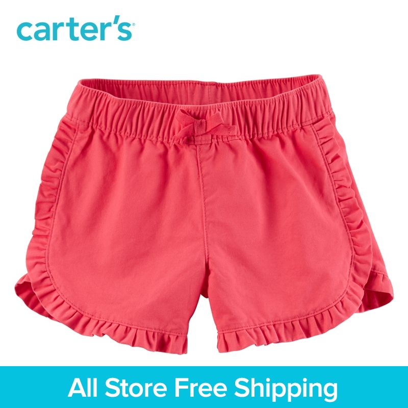 Carters 1pcs baby children kids Ruffle Twill Shorts 236G366,sold by Carters China official store