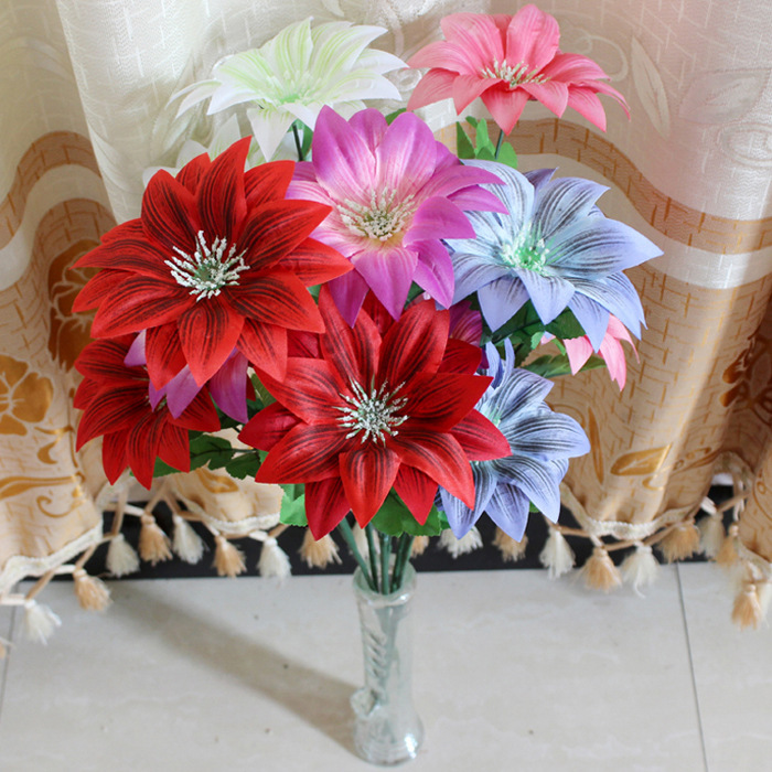 Buy beautiful artificial chrysanthemum for Dinner table flower arrangements