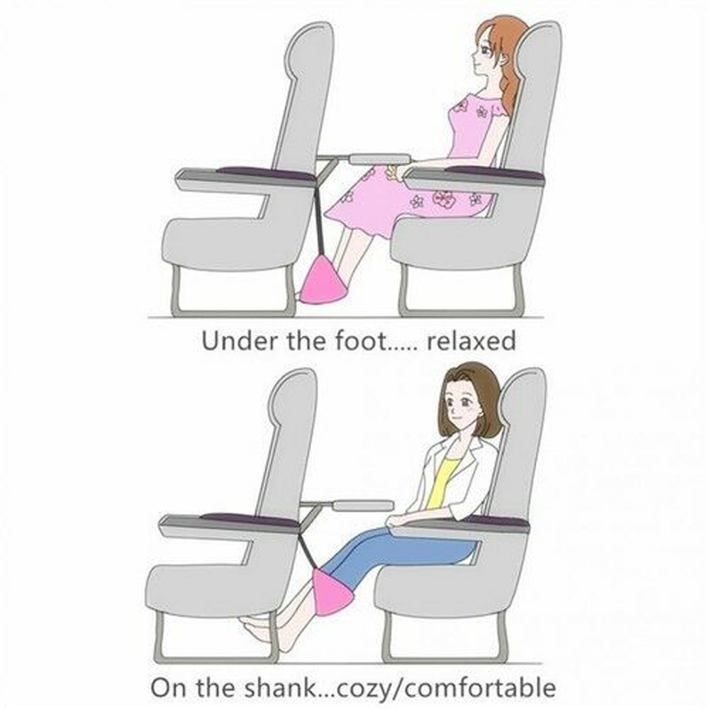 Foot Rest Portable Travel Footrest Flight Carry on Foot Rest Office Feet Rest Leg Hammock Travel Accessories Footrest Hammock in Massage Relaxation from Beauty Health