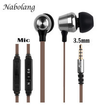 100% Original Earphone With Microphone For Smartphone Phones Xaomi Computer Laptop Tablet PC MP3/MP4 3.5mm Universal Mic Earpods(China)