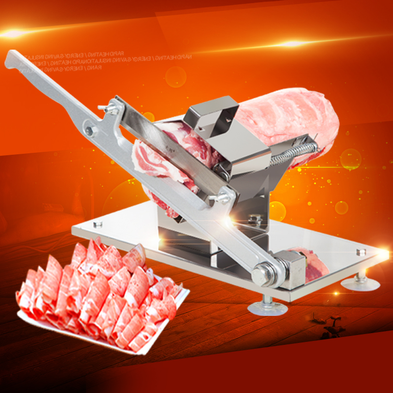 Mutton Roll Manual Meat Slicer Machine Commercial Home Shabu Mutton Fat Beef Rolls Slicer Frozen Meat Grinder new conditioner stainless steel 0 17 mm thickness mutton roll slicer machine frozen meat cutting machine price
