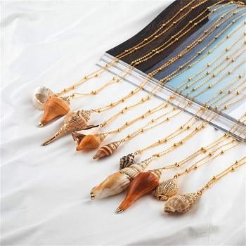 20 Styles Seashell Pendants Initial Necklace female Statement Jewlery 4