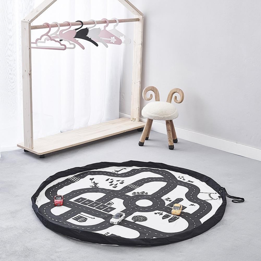 Tapis enfants développement tapis bébé tapis de jeu sac de rangement jouets pour enfants tapis de jeu Puzzles tapis dans la pépinière jouer livraison directe