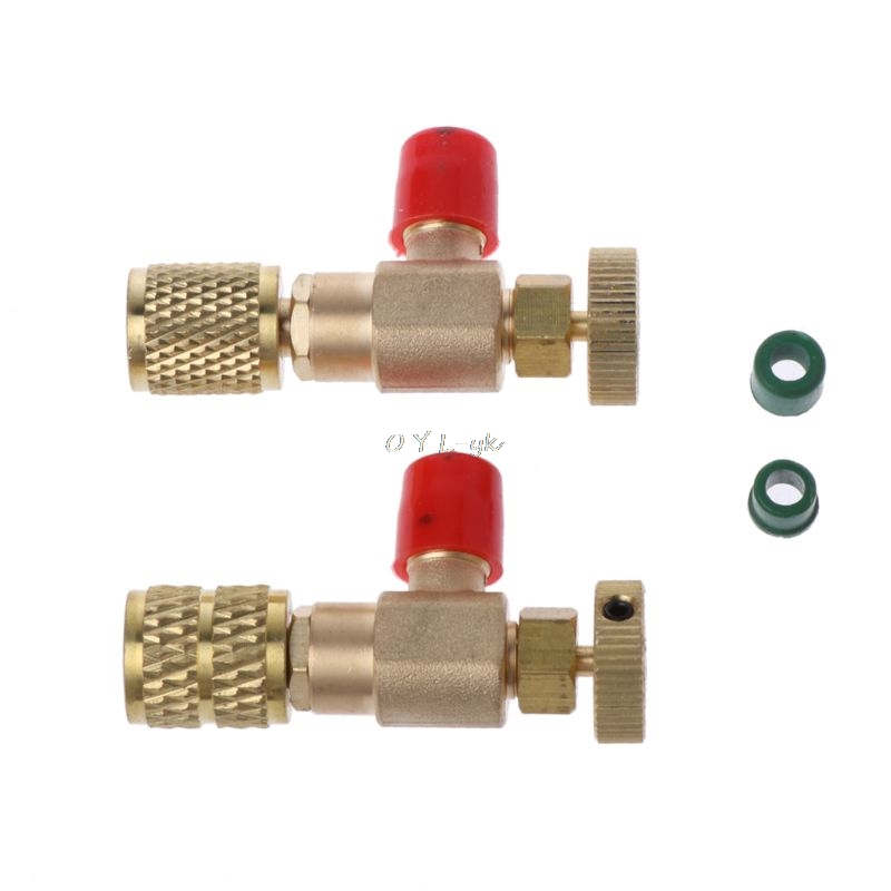 2Pcs Safety Valve R410A R22 Air Conditioning Quick Coupler Connector Adapters2Pcs Safety Valve R410A R22 Air Conditioning Quick Coupler Connector Adapters