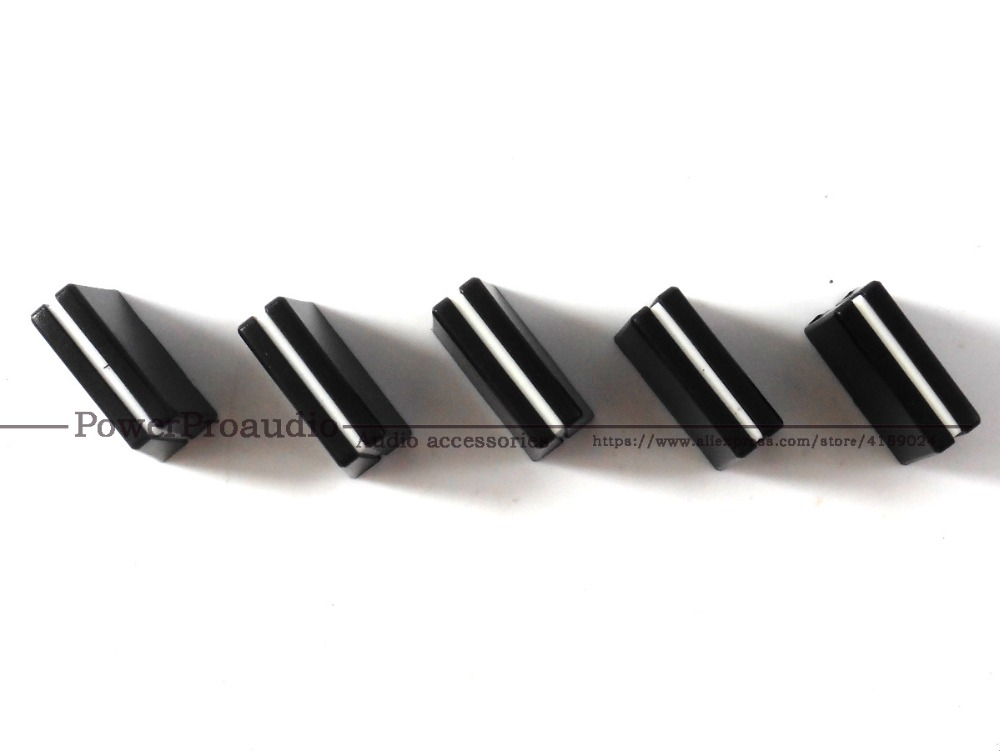 5 Teile/los Lange 20mm Breite 9mm Hohe 15mm/mixer Potentiometer Fader Knob Cap Für Pioneer Djm-750 Serie GroßEr Ausverkauf