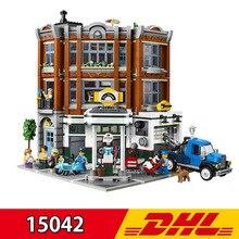 New Style Leping 15042 2569Pcs City Street View Corner Garage Set Buidling Blocks Bricks K