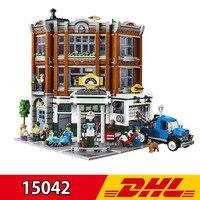 New Style Leping 15042 2569Pcs City Street View Corner Garage Set Buidling Blocks Bricks Kids Toy Gift Compatible LegoING