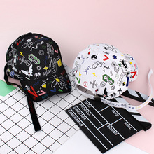 Custom Graffiti Snapback Baseball Caps Black and White Patchwork Men Women Hip Hop Cap Fashion Casual Hat hot sales