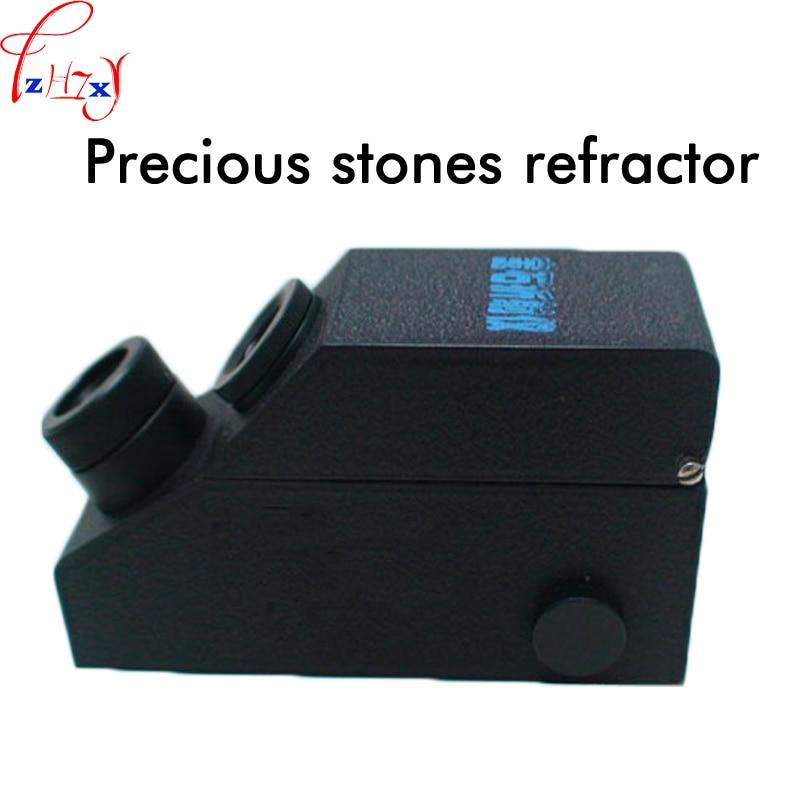 1PC Professional gem jewelry refractometer RGM900 gem refractometer has a built-in LED light belt calibration wholesales buil in led light refractometer zgra 100atc