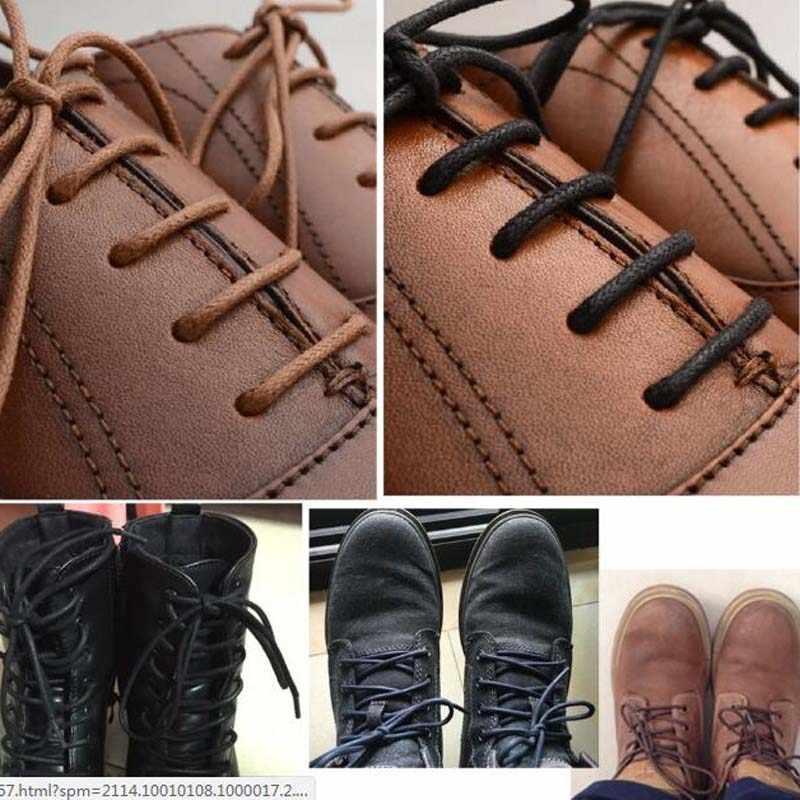 Katı Kalın Yuvarlak Mumlu Ayakabı Elbise deri ayakkabı Balmumu Ayakkabı Bağcıkları iphalat Sıradan Botları Sneakers Ücretsiz Kargo