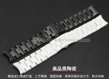 Ремешки для наручных часов 22 мм, Высокое Качество Керамической Ремешок белый черный Бриллиант Часы подходят AR1400 1403 1410 1442 Мужчина часы Браслет