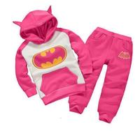 Batman Boys And Girls Clothing Sets Autumn And Spring Casual Cotton Children Clothes Suit Hooded Coat