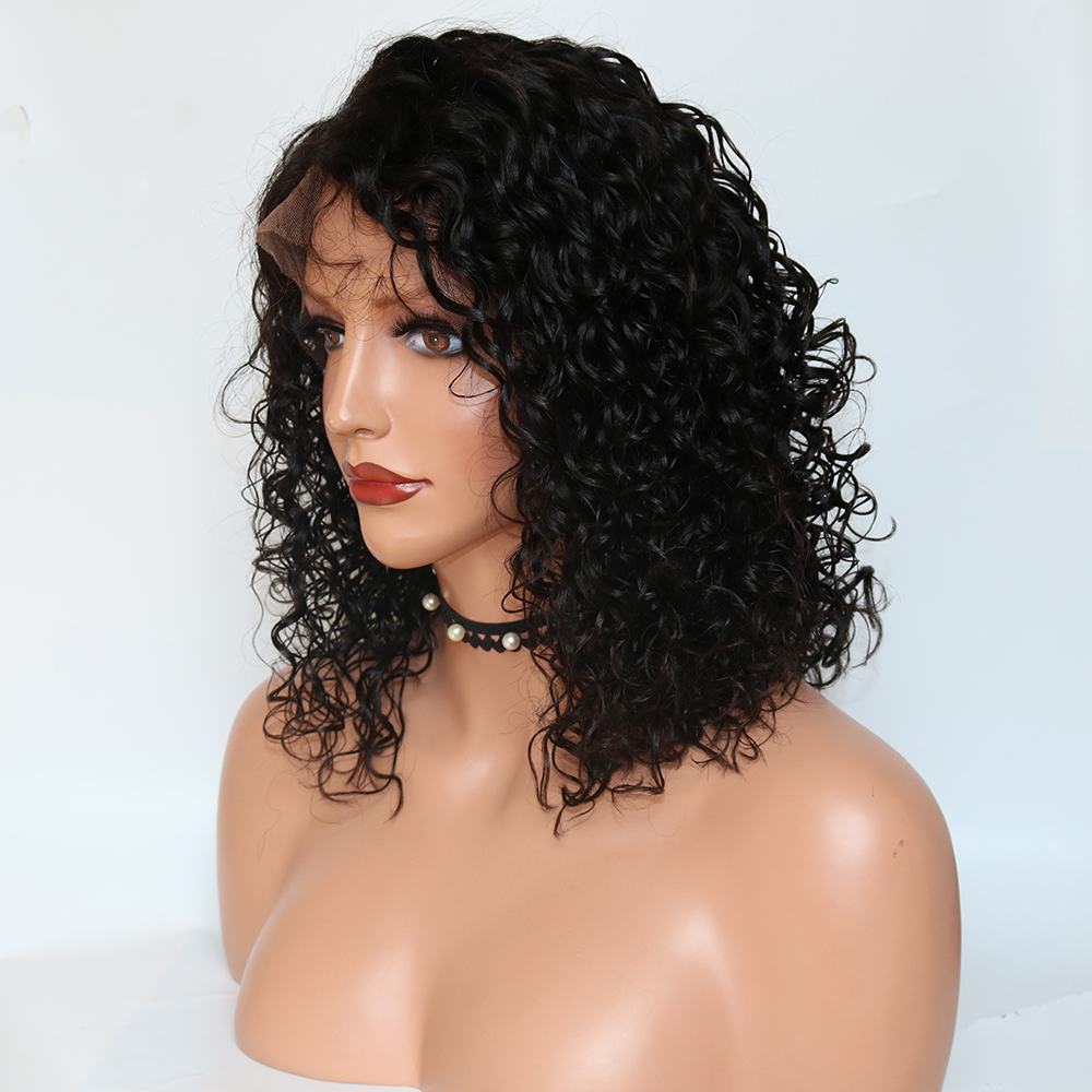 Curly Wigs For Women Bleached Knots Short Lace Front Wig Brazilian Virgin Human Hair Wigs Glueless With Baby Hair