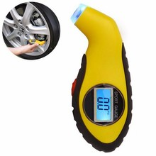 Digital Tire Gauge High Precision Tire Pressure Monitor Motorcycle Bike Electronic LCD Tire Pressure Gauge Tester Air Gauge цена