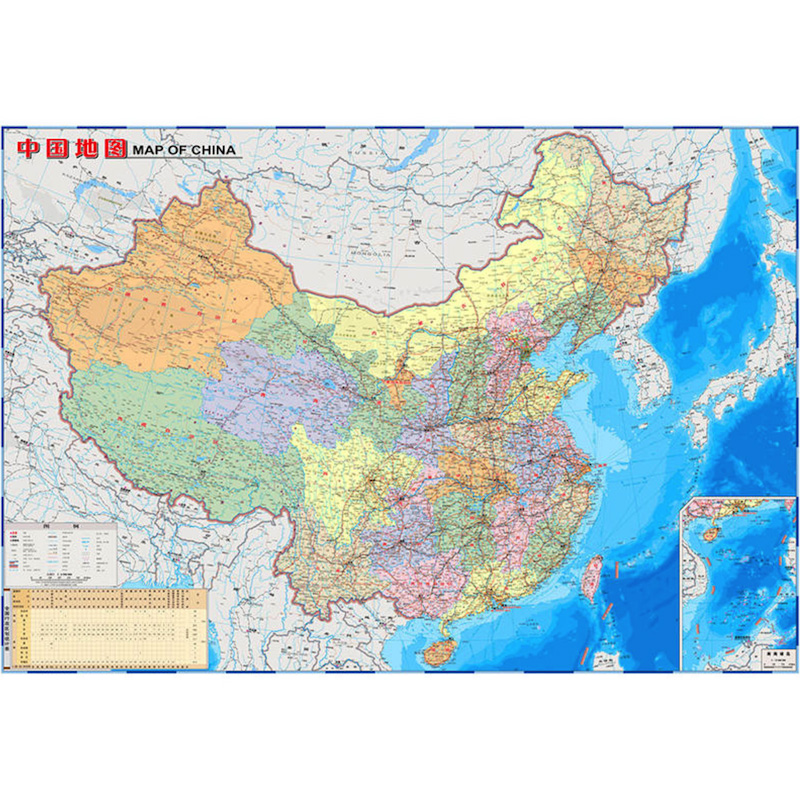on china geography map