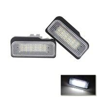 Ошибок Plug-N-Play ксеноновые Белый светодио дный номер Подсветка регистрационного номера для автомобиля Benz C E cls-класса W203 W211 W219 E550 E350 авто лампы