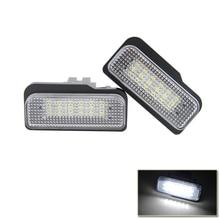 Ошибок plug-n-play ксенон Количество Белый светодиод Подсветка регистрационного номера для автомобиля benz c e cls-класса W203 w211 W219 E550 E350 авто лампы