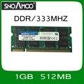 Оптовая Новый Бренд БАРАНОВ DDR1 1 ГБ 512 МБ 333 МГц PC-2700 Совместим с 400 МГц 266 МГц DIMM Памяти для Портативный ноутбук БАРАНОВ